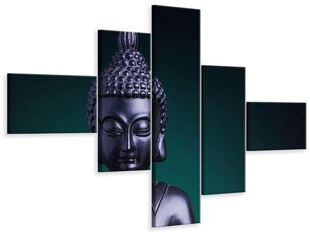 Leinwandbild 5-teilig modern Die Weisheit des Buddhas