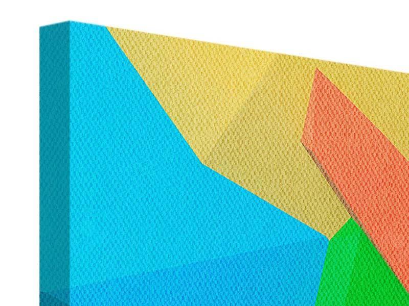 Leinwandbild 5-teilig modern 3D-Geometrische Figuren