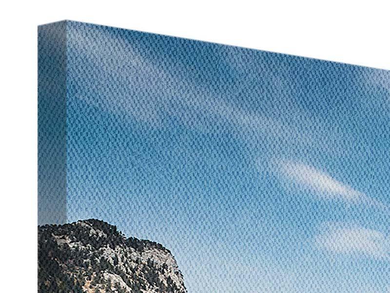 Leinwandbild 5-teilig modern Der idyllische Bergsee