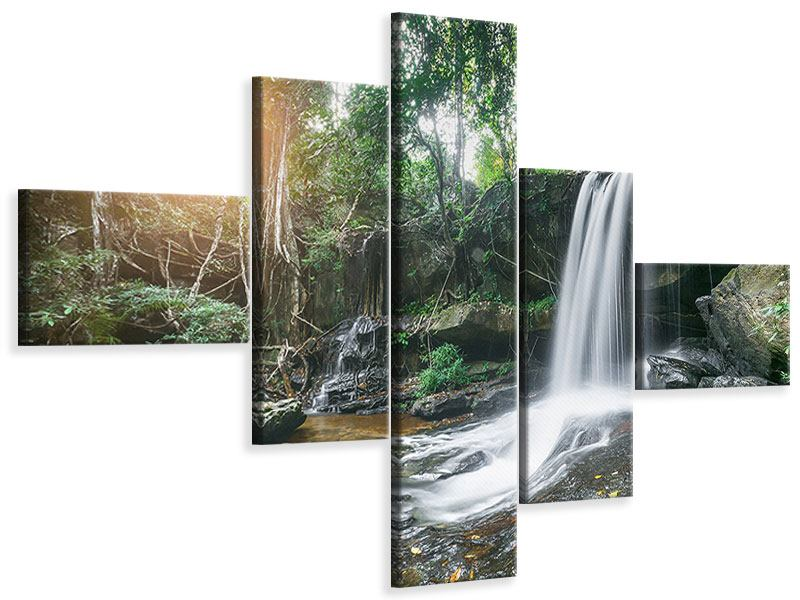 Leinwandbild 5-teilig modern Naturschauspiel