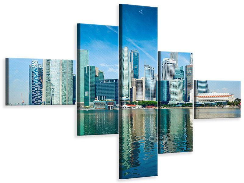 Leinwandbild 5-teilig modern Skyline Mexiko-Stadt