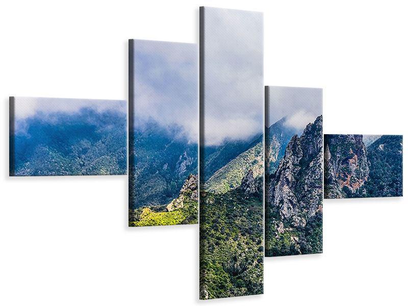 Leinwandbild 5-teilig modern Der stille Berg