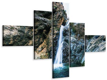 Leinwandbild 5-teilig modern Bewegtes Wasser