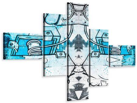 Leinwandbild 5-teilig modern Graffiti
