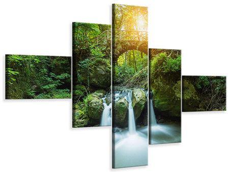Leinwandbild 5-teilig modern Wasserspiegelungen