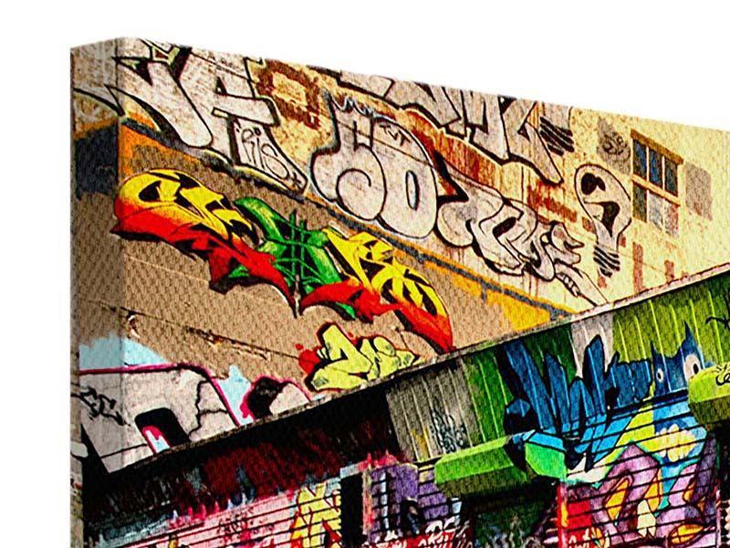 Leinwandbild 5-teilig modern NY Graffiti