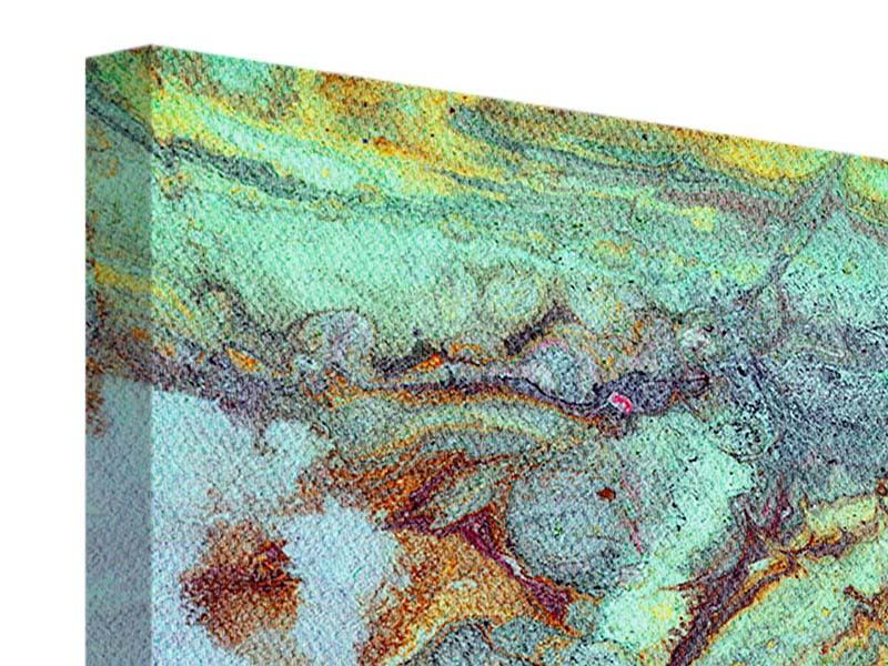 Leinwandbild 5-teilig modern Marmor in Grün