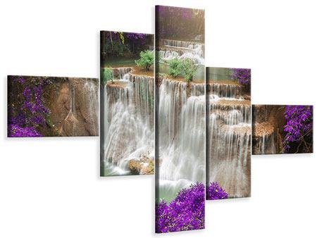 Leinwandbild 5-teilig modern Garten Eden