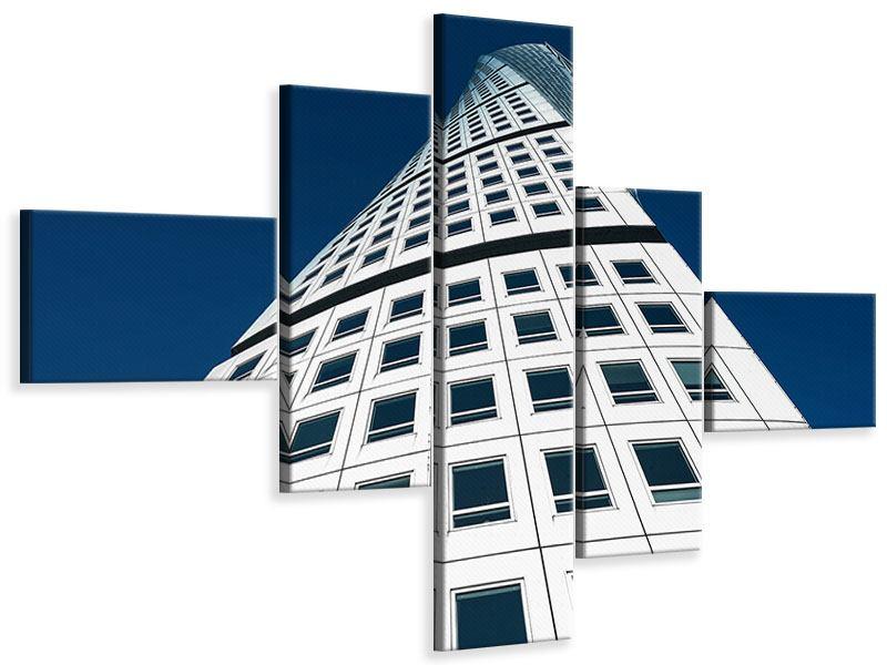 Leinwandbild 5-teilig modern Meisterstück Wolkenkratzer