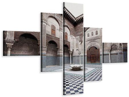 Leinwandbild 5-teilig modern Orientalischer Hinterhof