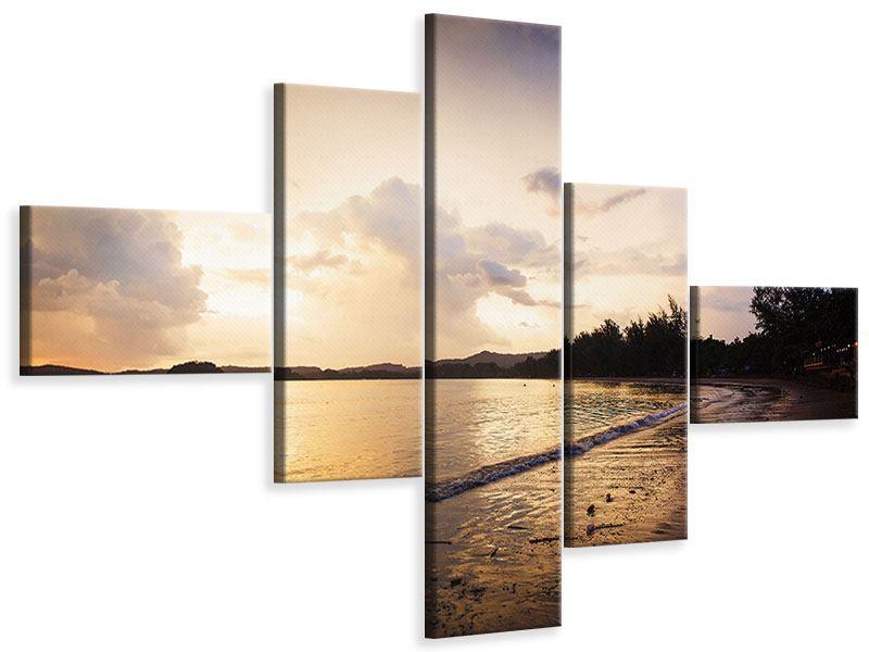 Leinwandbild 5-teilig modern Das Ufer