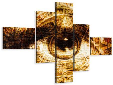 Leinwandbild 5-teilig modern Fraktales Auge