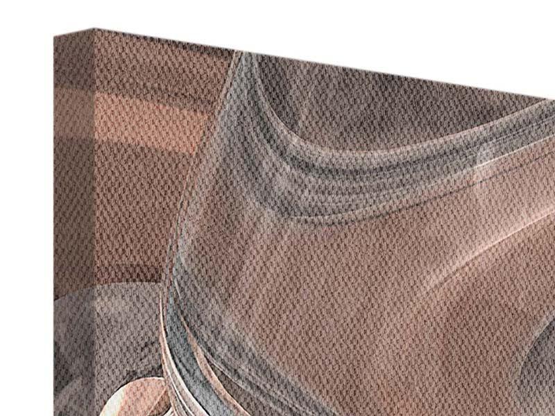 Leinwandbild 5-teilig modern Abstraktes Glasfliessen
