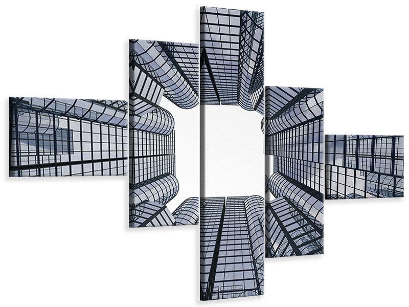 Leinwandbild 5-teilig modern Besondere Perspektive