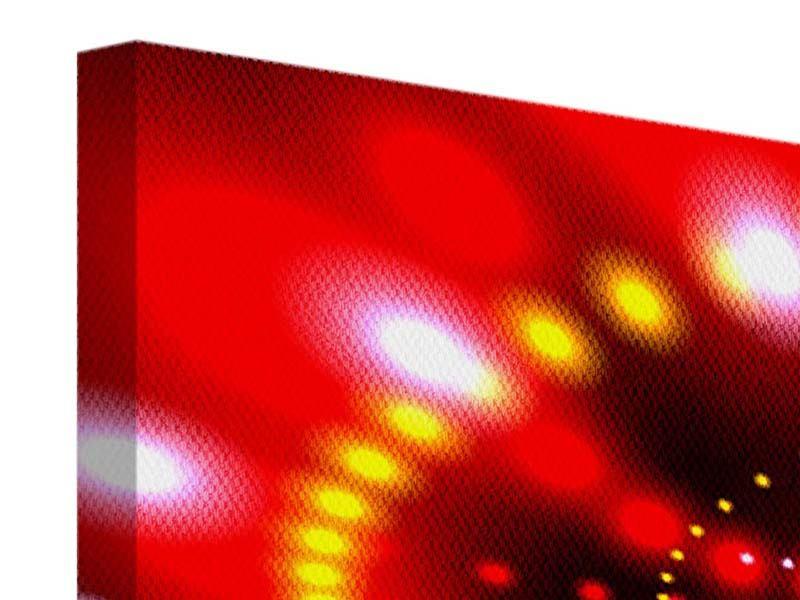 Leinwandbild 5-teilig modern Abstraktes Lichtspiel