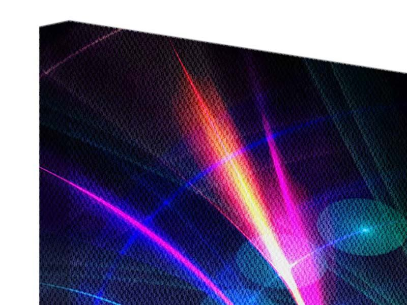 Leinwandbild 5-teilig modern Abstrakte Lichtreflexe