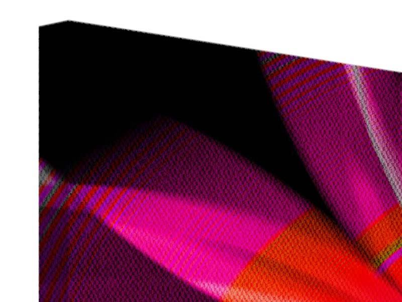 Leinwandbild 5-teilig modern Abstrakt Flower Power