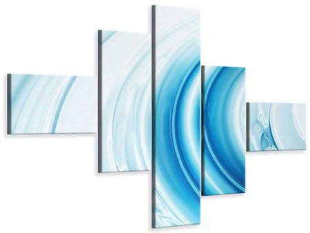 Leinwandbild 5-teilig modern Abstraktes Glas