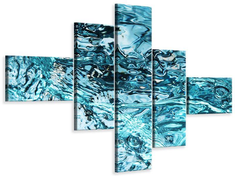 Leinwandbild 5-teilig modern Schönheit Wasser