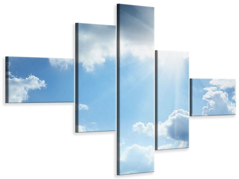 Leinwandbild 5-teilig modern Himmelshoffnung