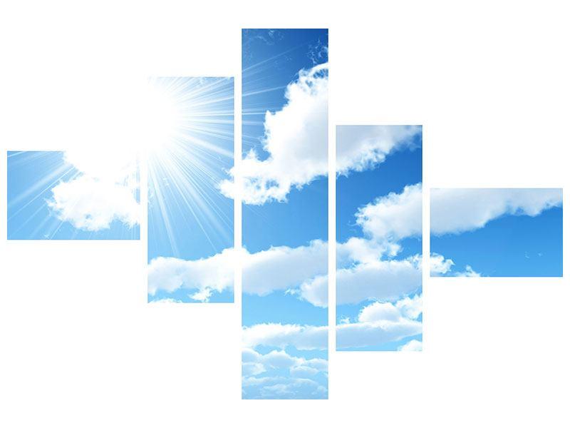 Leinwandbild 5-teilig modern Am Himmel