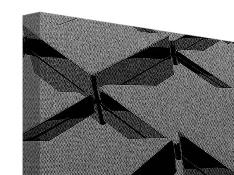 Leinwandbild 5-teilig modern 3D-Dreiecksflächen