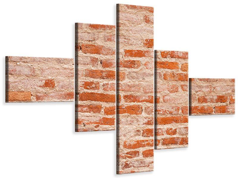 Leinwandbild 5-teilig modern Mauerwerk