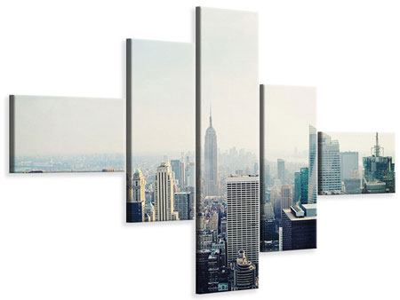 Leinwandbild 5-teilig modern NYC