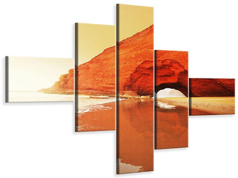 Leinwandbild 5-teilig modern Wasserspiegelung