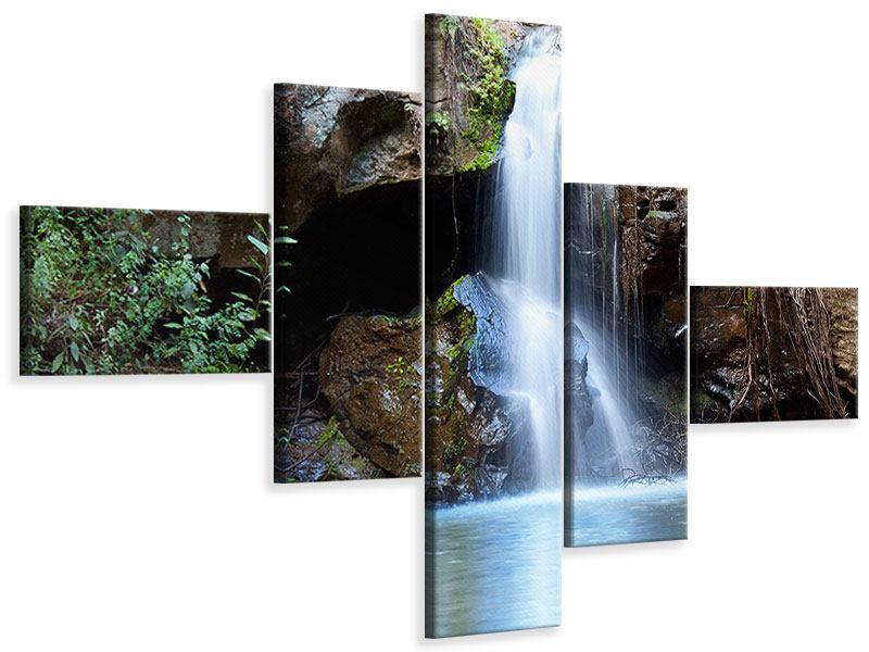 Leinwandbild 5-teilig modern Die blaue Lagune