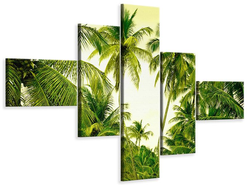 Modern 5 Piece Canvas Print Mural Ready for a vacation