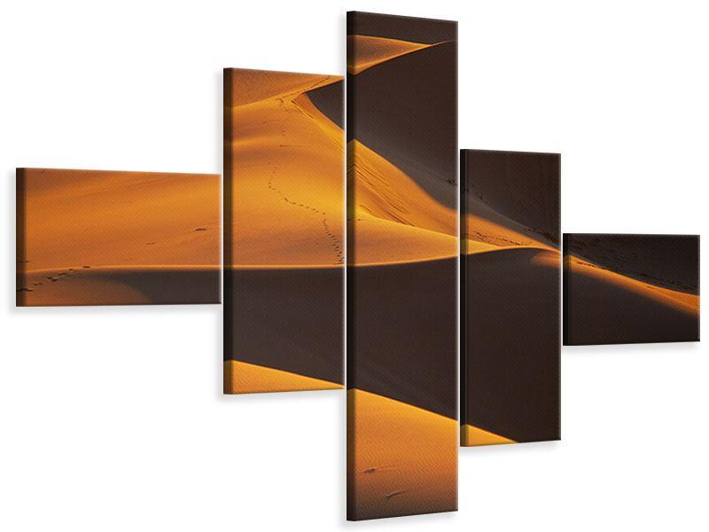 Leinwandbild 5-teilig modern Wüstensand