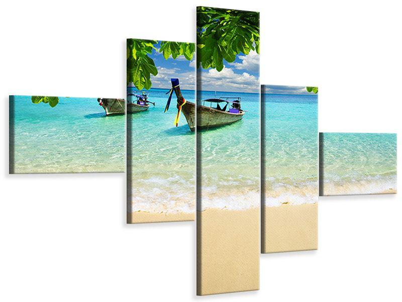 Leinwandbild 5-teilig modern Ein Blick auf das Meer