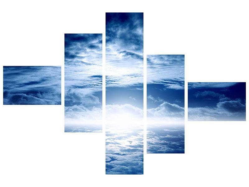 Leinwandbild 5-teilig modern Mystischer Himmel