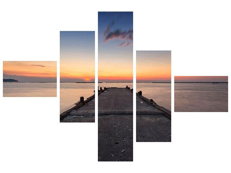 Leinwandbild 5-teilig modern Der Steg