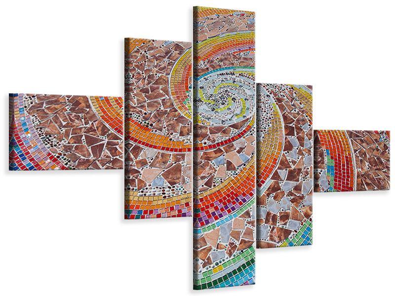 Leinwandbild 5-teilig modern Mosaik