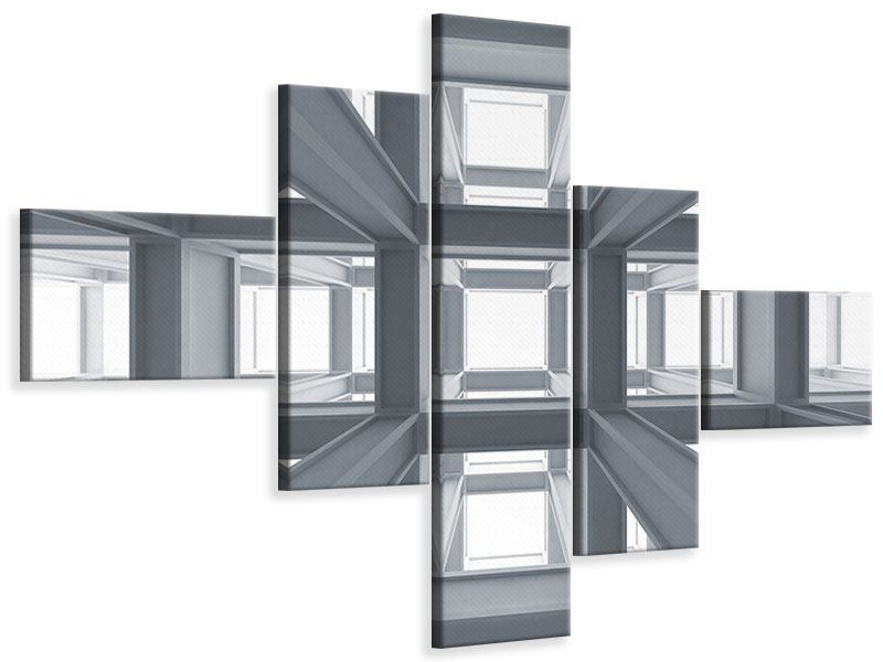 Leinwandbild 5-teilig modern Räume
