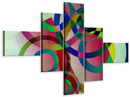 Leinwandbild 5-teilig modern Wandkunst