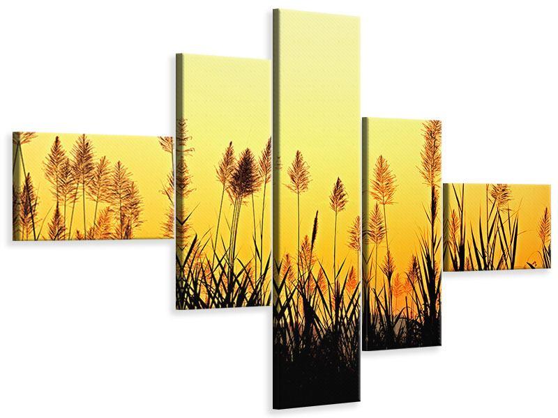 Leinwandbild 5-teilig modern Die Blumen des Feldes