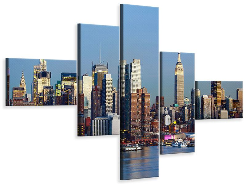 Leinwandbild 5-teilig modern Skyline Midtown Manhattan