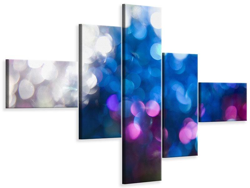 Leinwandbild 5-teilig modern Abstraktes Licht