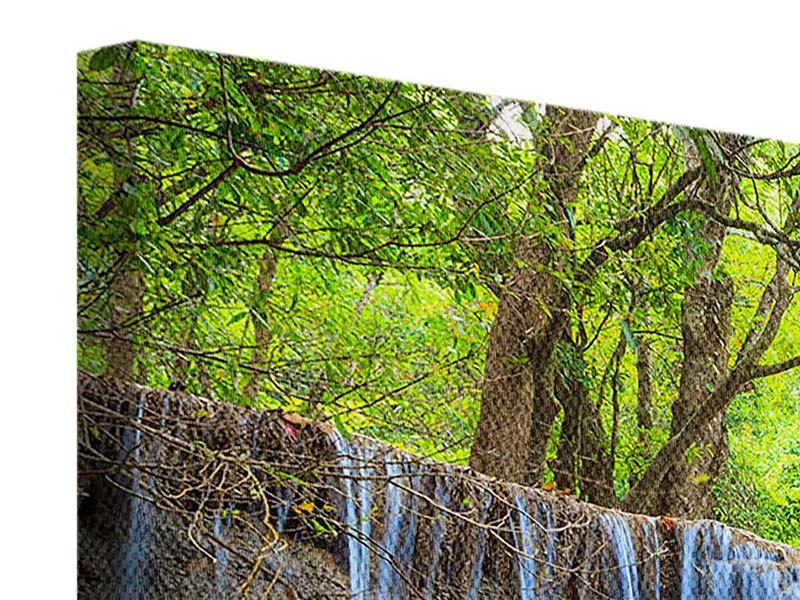 Leinwandbild 5-teilig modern Wasserfall Si Nakharin