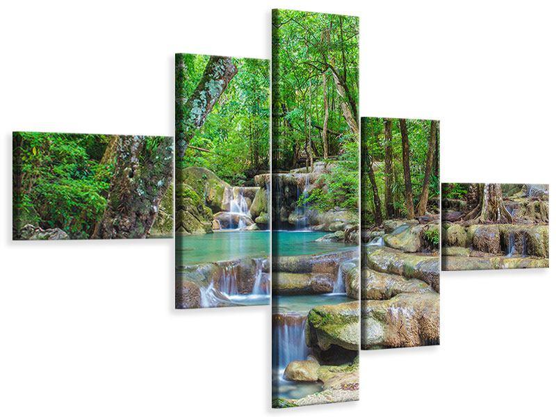Leinwandbild 5-teilig modern Wasserspektakel