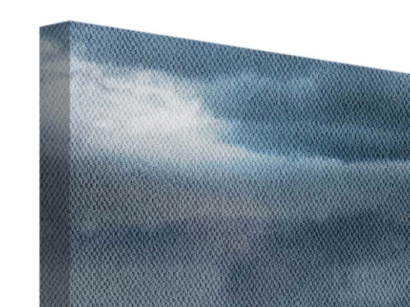 Leinwandbild 5-teilig modern Silberstreifen