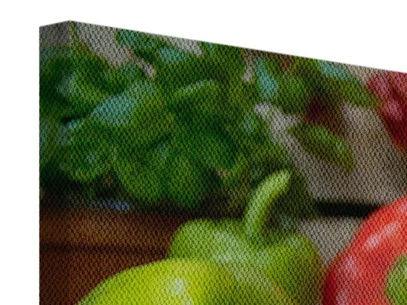 Leinwandbild 5-teilig modern Mediterranes Gemüse