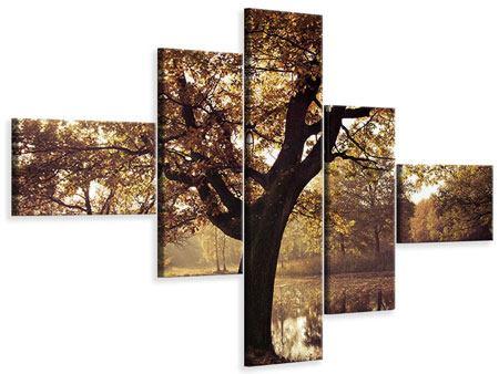 Leinwandbild 5-teilig modern Landschaftspark
