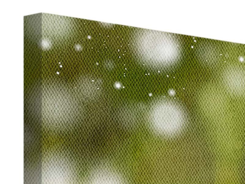 Leinwandbild 5-teilig modern Lilien-Lichtspiel