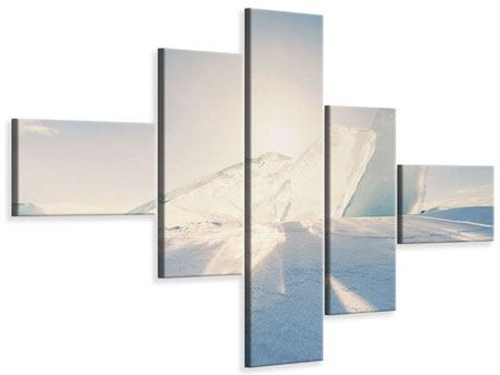 Leinwandbild 5-teilig modern Eislandschaft