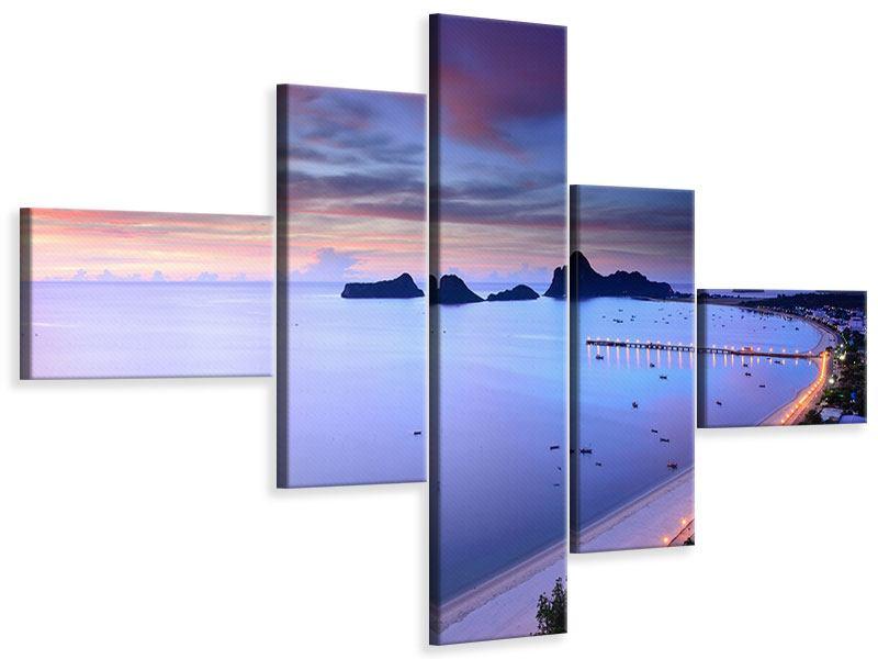 Leinwandbild 5-teilig modern Ano Manao Bucht