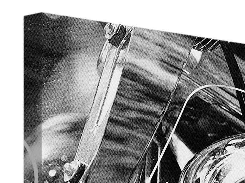 Leinwandbild 5-teilig modern Motorrad Close Up